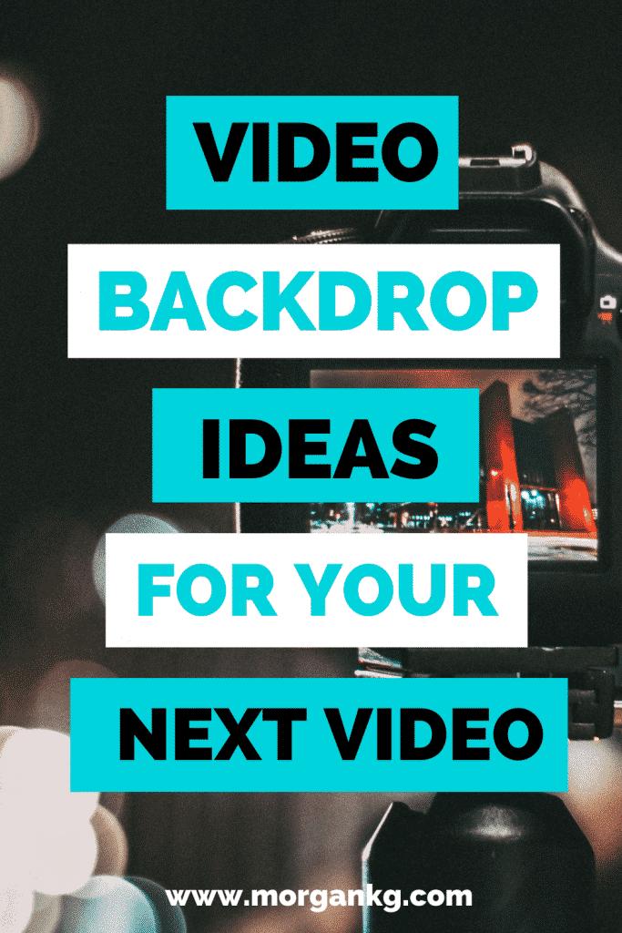 Video Backdrop Ideas