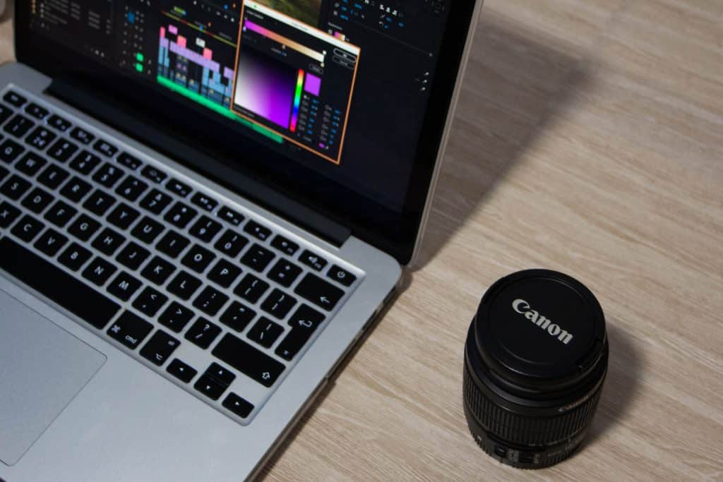 Video editing with Canon lens